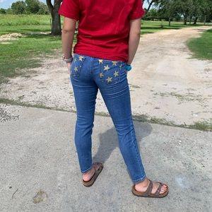 Handpainted LOFT jeans size 2